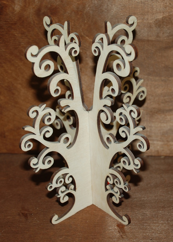 Laser Cut Jewelry Tree Stand Earring Necklace Tree Holder Organizer Free CDR Vectors Art