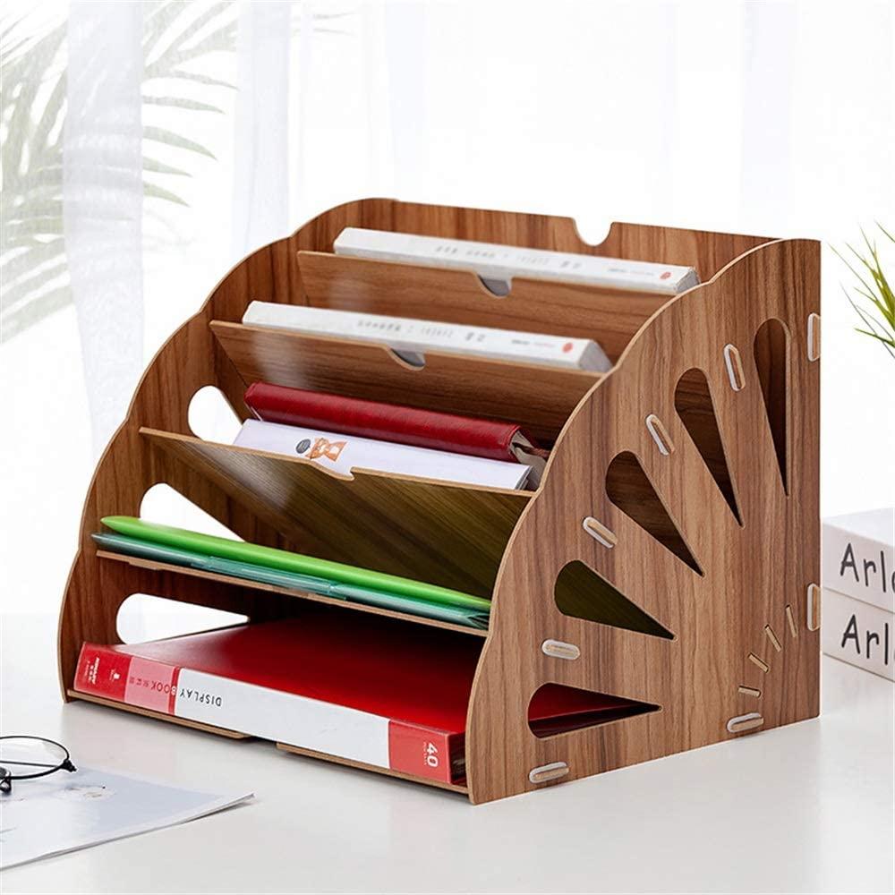 Laser Cut Office Desktop Stationery Rack Letter Magazine File Folder Holder Document Organizer Free CDR Vectors Art