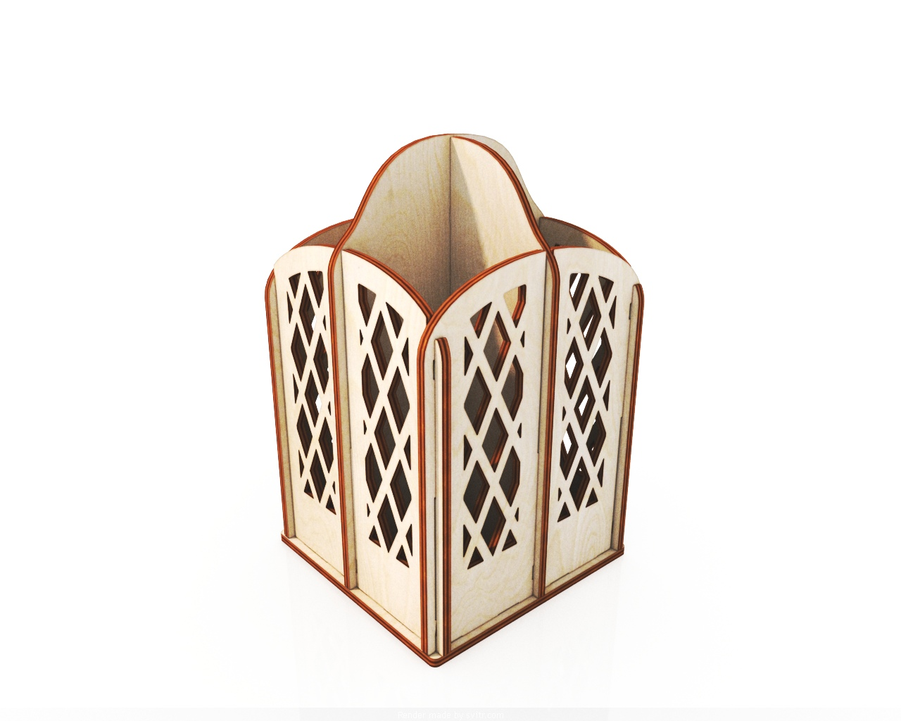 Laser Cut Pencil Holder Storage Organizer 4mm Free CDR Vectors Art