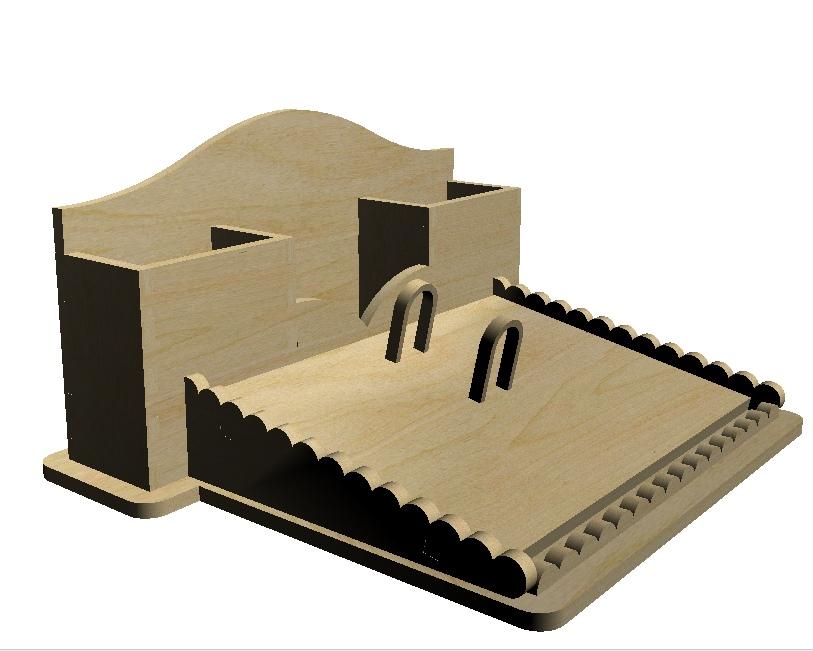 Cnc Laser Cut Wooden Desk Organizer Free DXF File