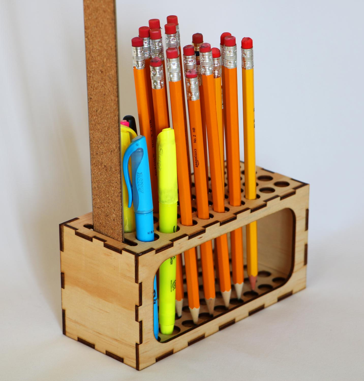 Pencil Holder Desktop Organizer Laser Cut Template Free DXF File