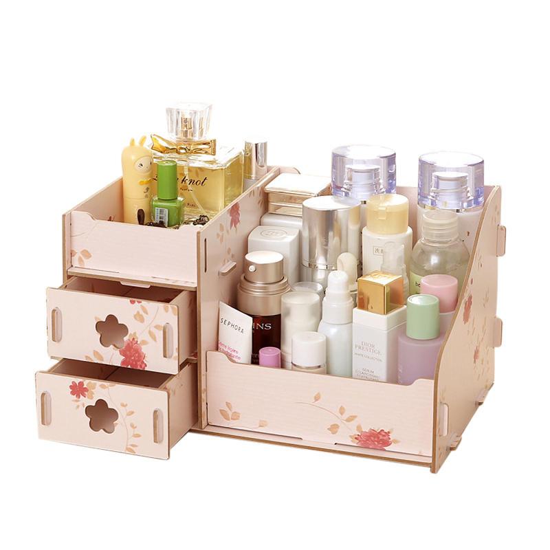 Laser Cut Makeup Organizer Box Drawer Cosmetics Storage Free CDR Vectors Art