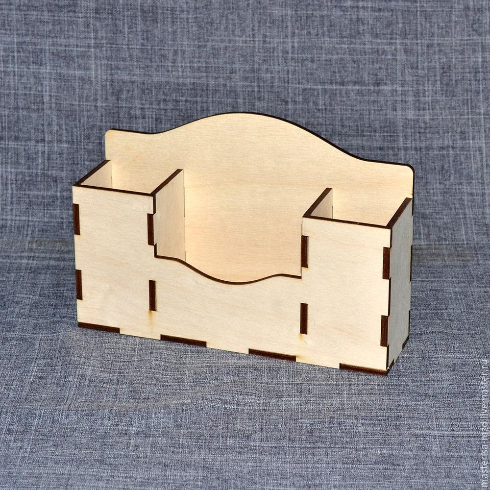 Laser Cut Wooden Desk Organizer Free CDR Vectors Art