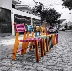 Cnc Laser Cut Wooden Colorful Chairs Free CDR Vectors Art