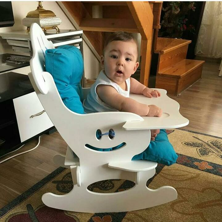 Wooden Rocker Chair For Children Free DXF File