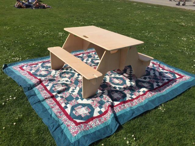 Flat Pack Picnic Table Free CDR Vectors Art