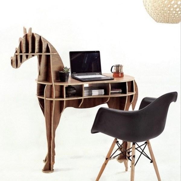 Laser Cut Wooden Horse Table Plan Free CDR Vectors Art
