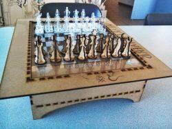 Cnc Laser Cut Wood Chess Board Free CDR Vectors Art