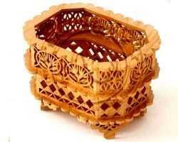 Cnc Laser Cut Wooden Baskets Storage Free CDR Vectors Art