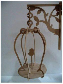 Cnc Laser Cut Wooden Bird Cage Free CDR Vectors Art