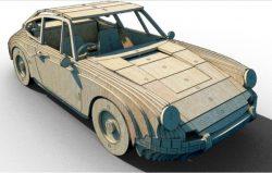 Cnc Laser Cut Wooden Car 3d Free CDR Vectors Art