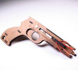 Cnc Laser Cut Wooden Jenga Pistol Download Free CDR Vectors Art