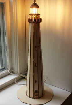 Cnc Laser Cut Wooden Lighthouse Lights Free CDR Vectors Art