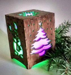 Cnc Laser Cut Wooden Lights Texture Free CDR Vectors Art