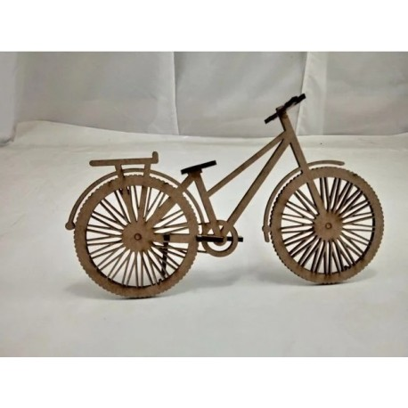 Laser Cut Wooden Bicycle Free DXF File