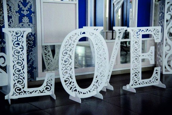 Volumetric Letters For A wedding. Wedding Decoration Made Of Wood Free CDR Vectors Art