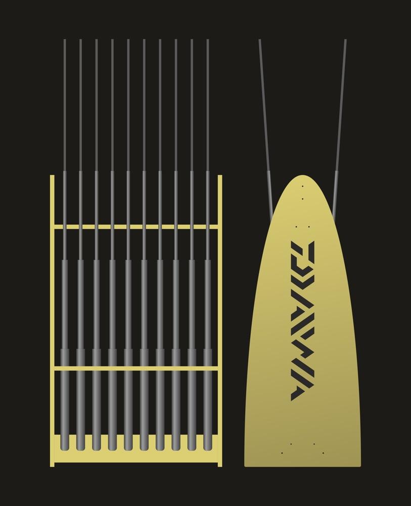 Laser Cut Fishing Pole Holder Free CDR Vectors Art