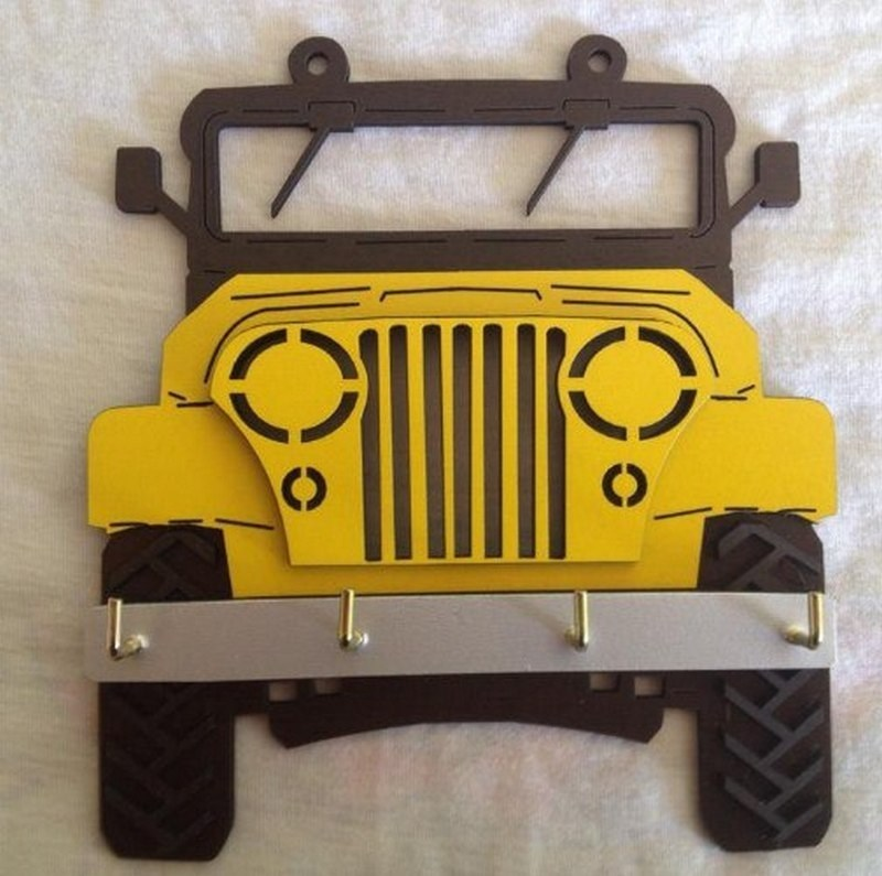 Jeep Wall Hanging Cnc Free CDR Vectors Art