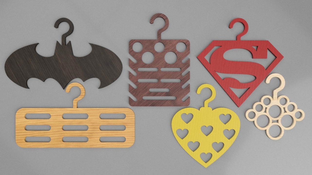 Laser Cut Batman Decoration Hanger Free CDR Vectors Art
