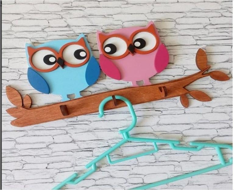 Owl Hanger Cnc Laser Cutting Free CDR Vectors Art