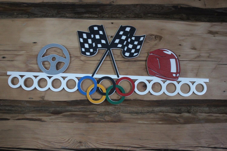 Car Racing Sports Medal Hanger Display Free CDR Vectors Art