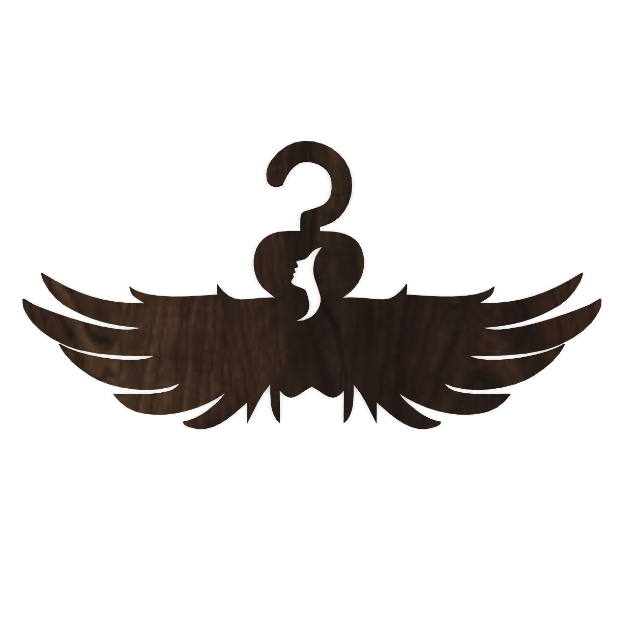 Laser Cut Angel Wings Clothes Hanger Free CDR Vectors Art