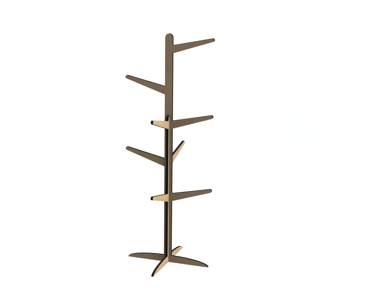 Laser Cut Cloth Hanging Stand For Kids Room Free DXF File