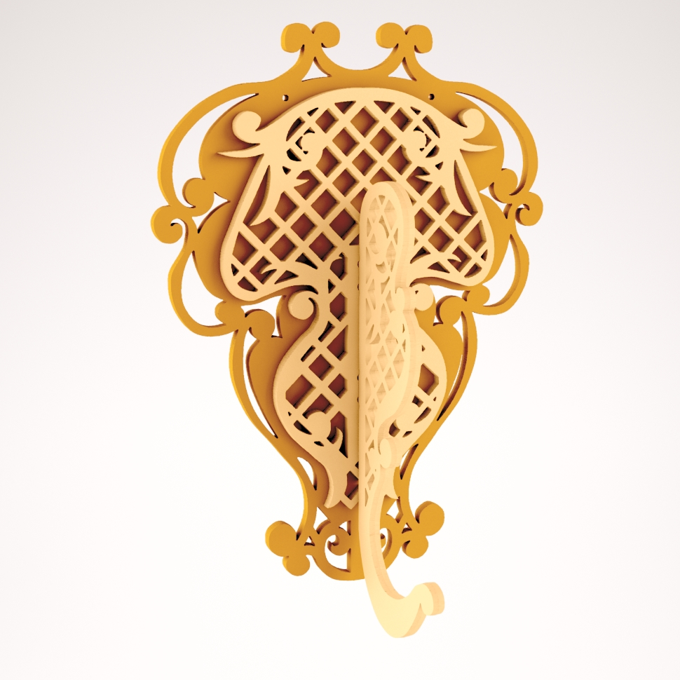 Laser Cut Decoration Wall Hanger Free DXF File