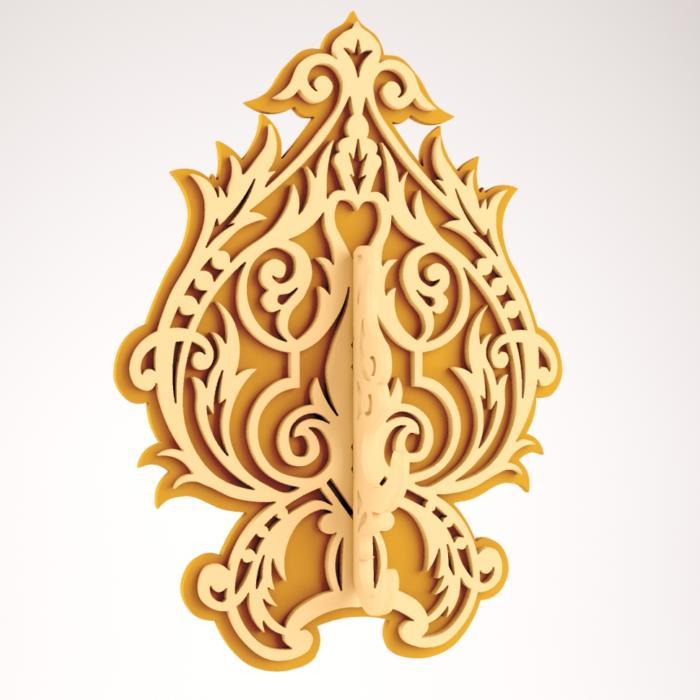 Laser Cut Diy Wood Decorative Wall Hooks Hanger Free DXF File
