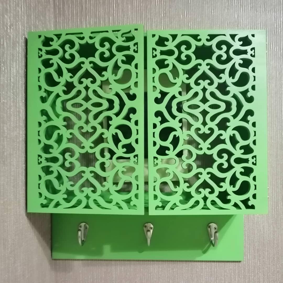 Laser Cut wall-mounted Key Cabinet Free DXF File