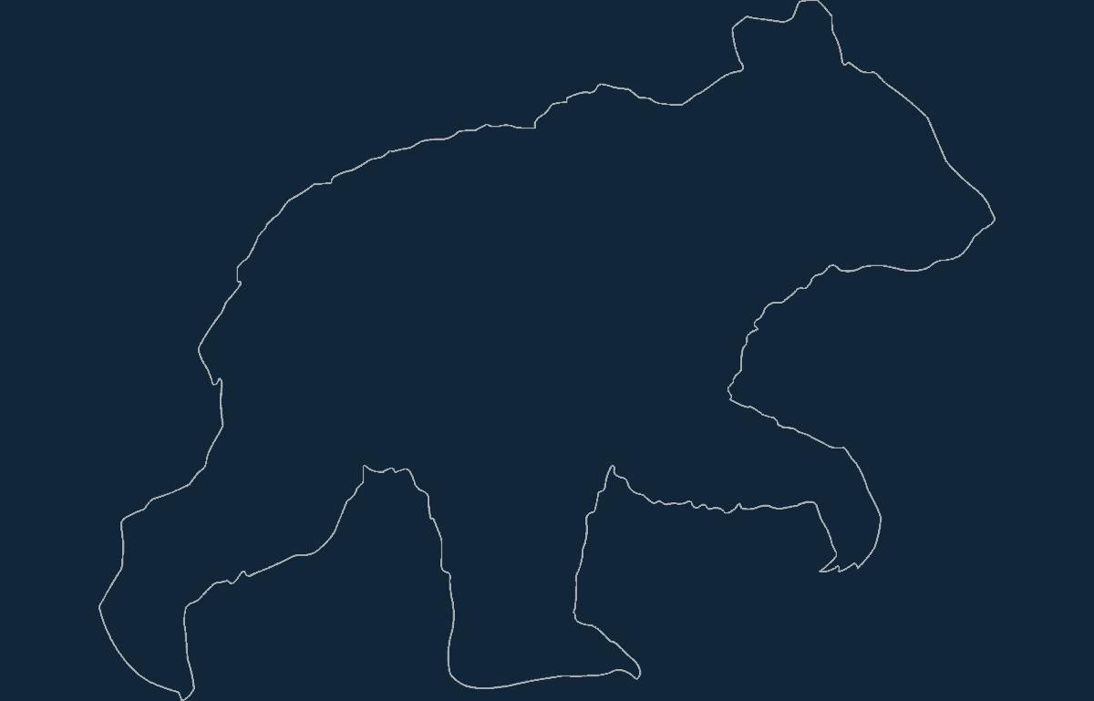 Animal Bear Free DXF File
