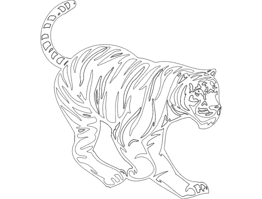 Animal Cheetah Mascot Free DXF File