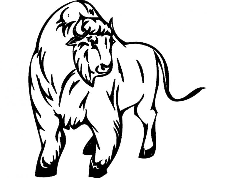 Animal Mascot Bull Free DXF File