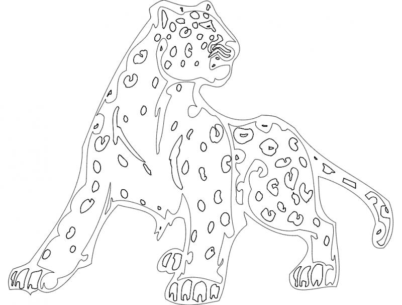 Animal Mascot Cheetah Free DXF File