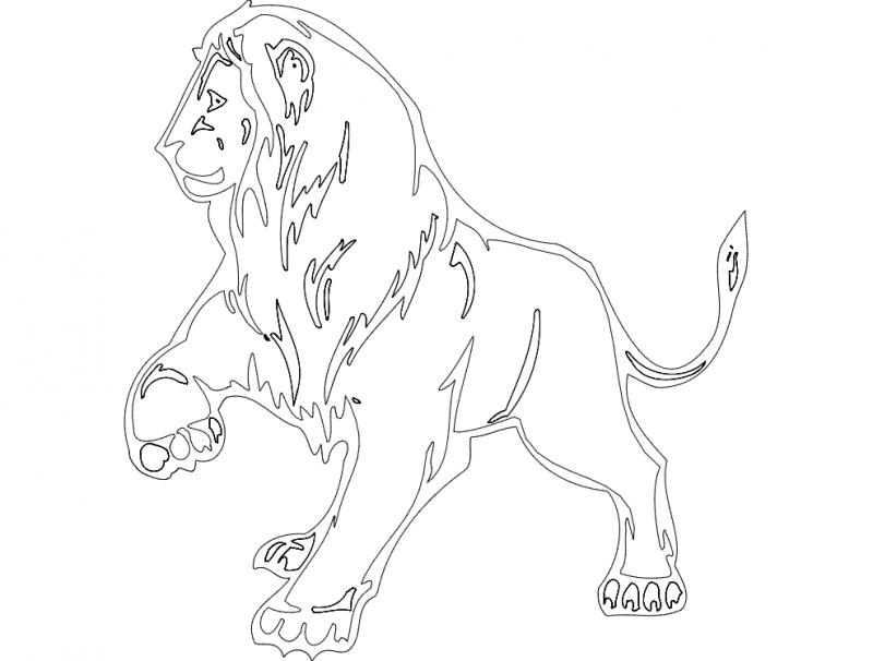 Animal Mascot Lion Free DXF File