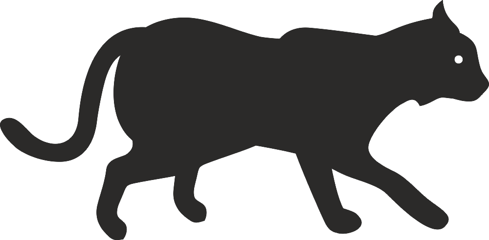 Animal Cat Silhouette Free DXF File