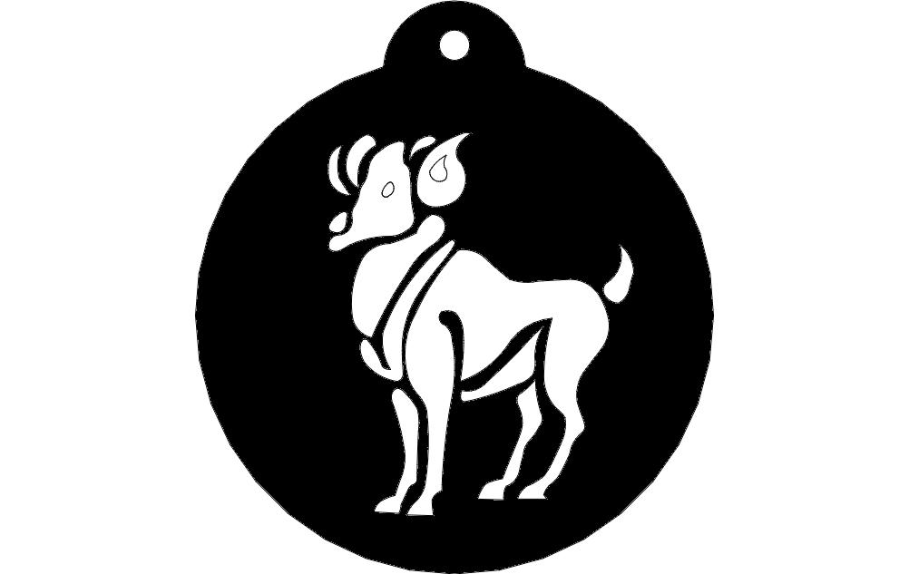 Animal Zodiac Signs Aries Free DXF File