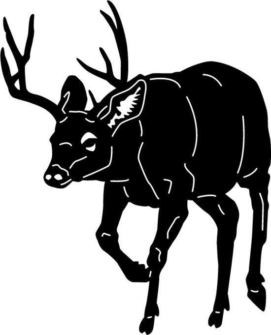 Deer Animals Free DXF File