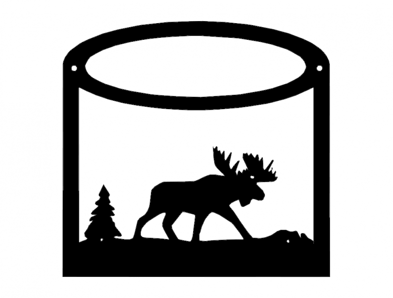 Moose Silhouette Animals Free DXF File