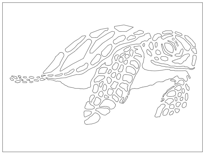 Animal Sea Turtle Free DXF File