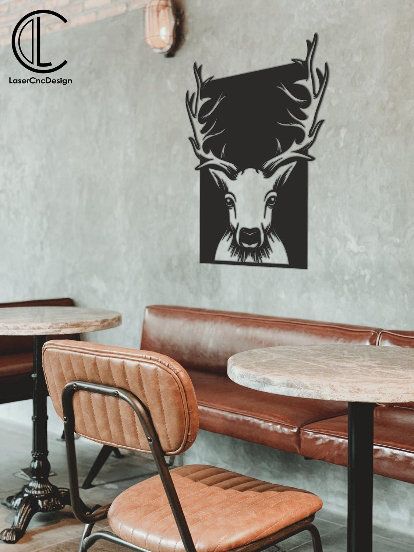 Deer Panel Free DXF File