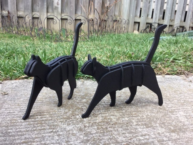 Laser Cut Cats 3mm Mdf Free DXF File