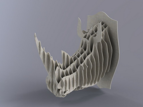 Rhino Head 4mm Free DXF File