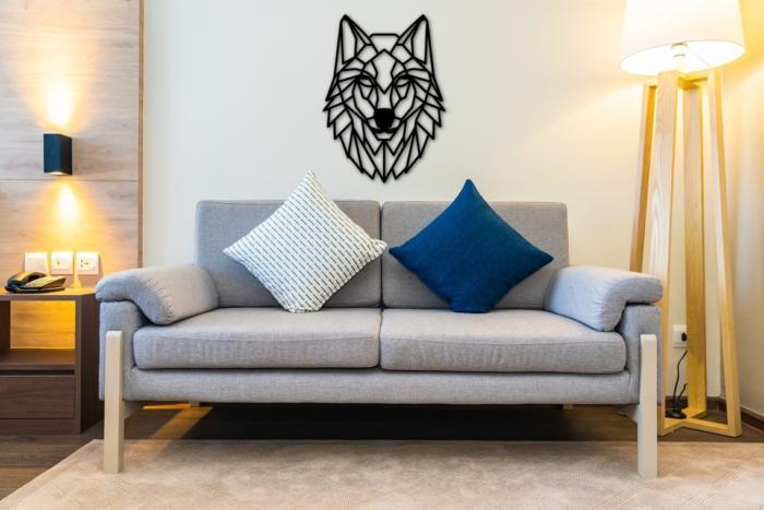 Wolf Wall Art Polygon Art Wall Decor 3d Sculpture Free DXF File