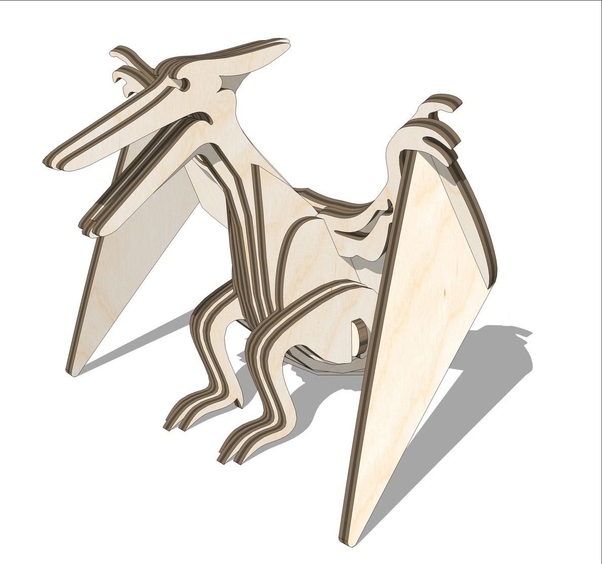 Wooden Pterodactyl Toy Free DXF File