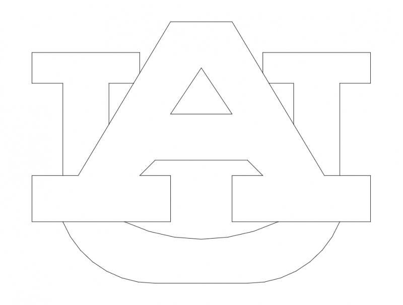 Auburn Logo Free DXF File