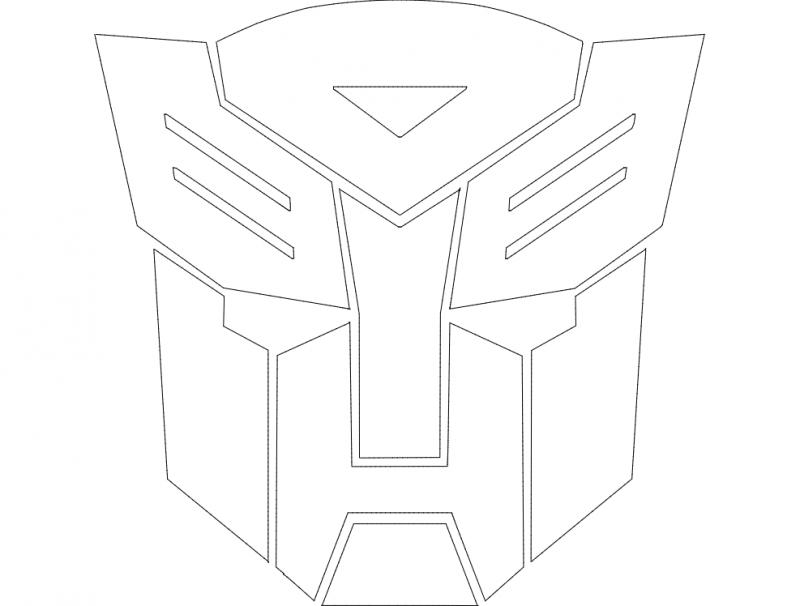 Autobot Logo Free DXF File