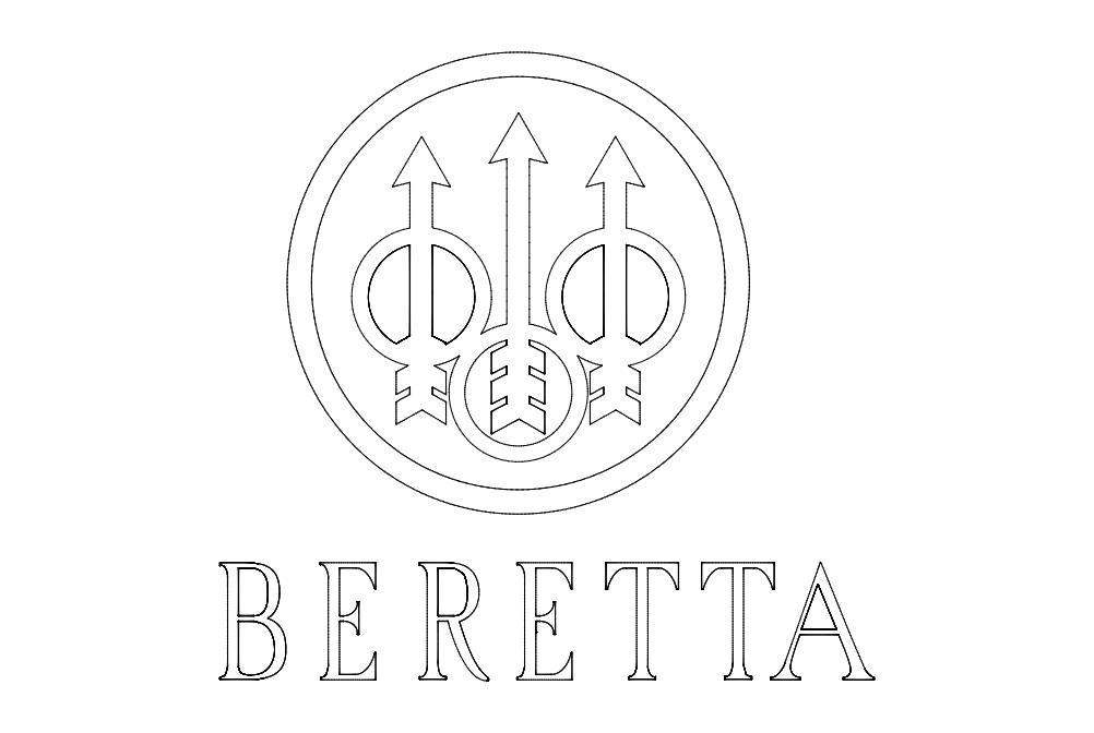 beretta-logo Free DXF File