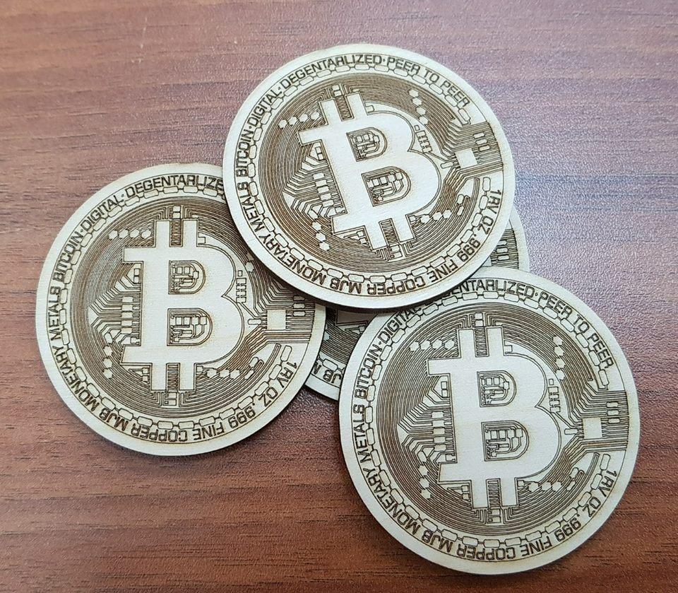 Bitcoin Logo Free DXF File