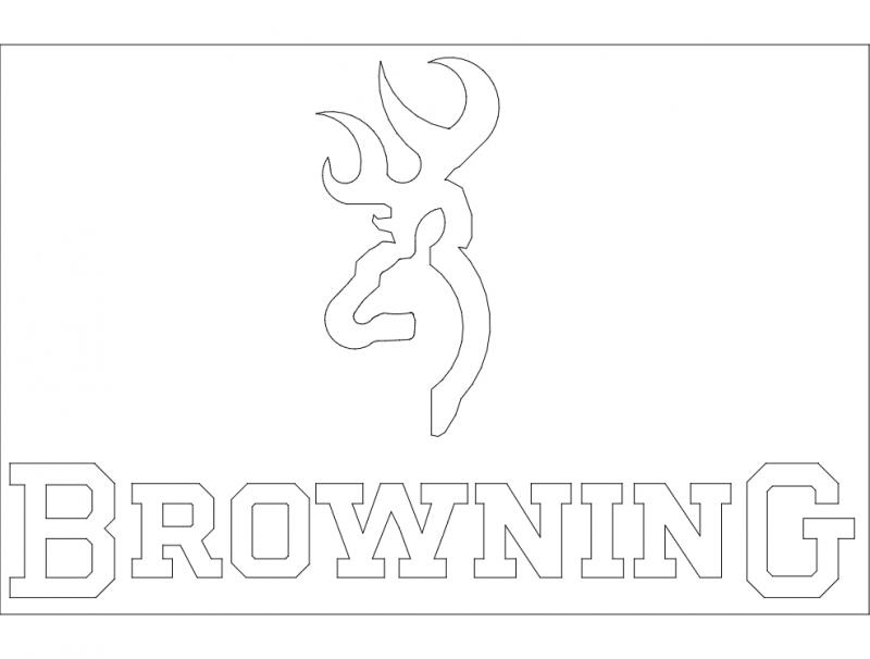 Browning Logo Vector Free DXF File